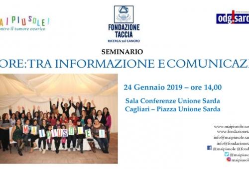 A Cagliari il seminario per giornalisti sull'informazione e comunicazione oncologica